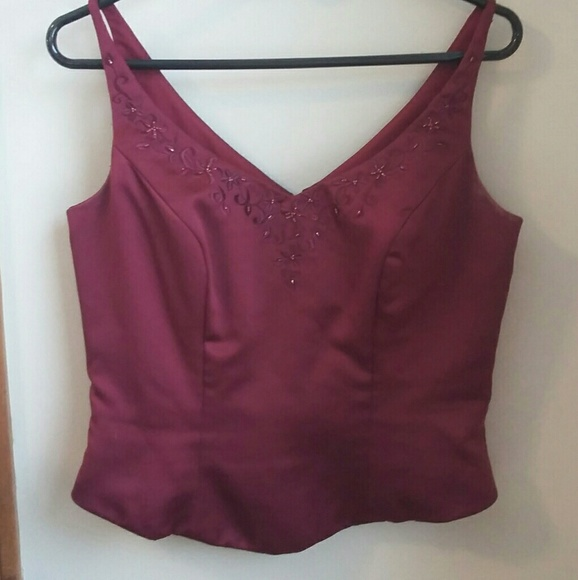 Wine red brides maid top and shoulder cover set.